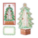 【クリスマス】ホールマーク(Hallmark) 立体グリーティングカード クリアツリー グリーン 765798