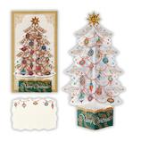 【クリスマス】ホールマーク(Hallmark) 立体グリーティングカード クリアツリー ホワイト 765811