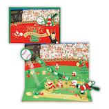 【クリスマス】ホールマーク(Hallmark) 立体グリーティングカード アスリートサンタ 野球サンタ 765972