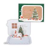 【クリスマス】ホールマーク クリスマスカード 立体カード ツリーをかざるサンタ 765996