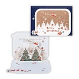 【クリスマス】ホールマーク(Hallmark) 立体グリーティングカード とんでいくサンタ 766009