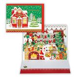 【クリスマス】ホールマーク(Hallmark) 立体グリーティングカード ハッピーレーザー おうちにサンタ 766078