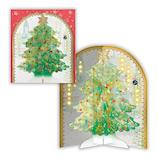 【クリスマス】ホールマーク(Hallmark) オルゴールカード 雪降るツリー グリーン 766344