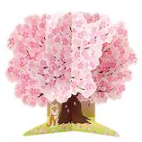 ホールマーク(Hallmark) G春 BL 立体カード 769840 桜の木に犬