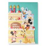 ホールマーク(Hallmark) ディズニー 誕生お祝い/オルゴール カットケーキ 770075 ミッキー&ミニーボイス│カード・ポストカード バースデー・誕生日カード