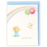 ホールマーク(Hallmark) 誕生お祝いカード 立体 ベアーズ・ウォッシュ 770730 虹と風船