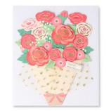 ホールマーク(Hallmark) 誕生お祝いカード 立体 フラワー・ブーケ 770754 チュールレッド