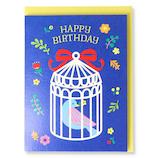 ホールマーク(Hallmark) 誕生お祝いカード 立体 ピークカラー 770839 鳥かごと鳥│カード・ポストカード バースデー・誕生日カード