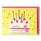 ホールマーク(Hallmark) 誕生お祝いカード 立体 ピークカラー 770846 ケーキとうさぎ