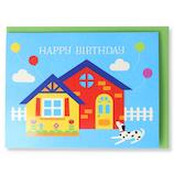 ホールマーク(Hallmark) 誕生お祝いカード 立体 ピークカラー 770853 家と犬