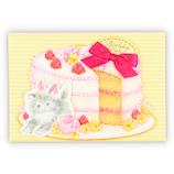 ホールマーク(Hallmark) バースデーカードGHB 立体猫とケーキ 774707