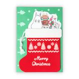 【クリスマス】ホールマーク ムーミン 靴下 クリスマスカード 780289