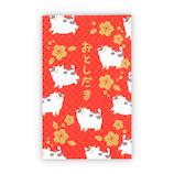 【年賀用品】ホールマーク 年賀ポチ袋 千代紙うし 781897