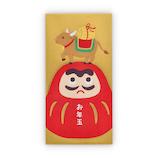 【年賀用品】ホールマーク 年賀祝儀封筒お札用 だるまとうし 782122