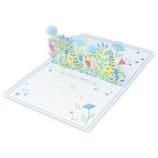 ホールマーク(Hallmark) 誕生お祝い 立体カード Blooming 青いお花 787752│カード・ポストカード バースデー・誕生日カード