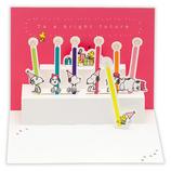 ホールマーク 誕生お祝い 立体カード スヌーピー きょうだいとレインボーキャンドル 790059│カード・ポストカード バースデー・誕生日カード