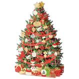 【クリスマス】ホールマーク(Hallmark) 立体クリスマスカード  レーザーギャラリー 794361 金箔グリーンツリー│カード・ポストカード クリスマスカード