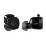 オーディオテクニカ(audio-technica) ワイヤレスイヤホン ATH−SQ1TW ブラック│オーディオ機器 ヘッドホン・イヤホン
