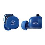 オーディオテクニカ(audio-technica) ワイヤレスイヤホン ATH−SQ1TW ブルー