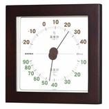 エンペックス ウエストン温・湿度計 ウォルナット│温度計・湿度計