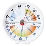 エンペックス 生活管理温・湿度計 ホワイト TM−2471│温度計・湿度計