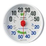 エンペックス ルシード温・湿度計 ホワイト│温度計・湿度計