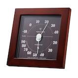 エンペックス フォレ温・湿度計 TMー4672 ダークブラウン│温度計・湿度計