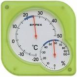 エンペックス シュクレ・ミディ イエローグリーン│温度計・湿度計