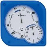 エンペックス シュクレ・ミディ ブルー│温度計・湿度計