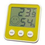 EMPEX デジタルmidi温度・湿度計 イエロー
