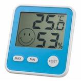 エンペックス おうちルーム デジタルmidi温湿度計 TDー8416 ブルー│温度計・湿度計