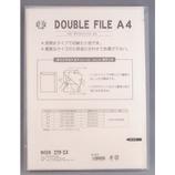 エイチ・エス ダブルファイル A4 クリア│ファイル レール式・挟み込みファイル
