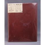 HS 合皮ブックカバー A4 赤