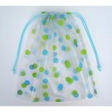 トラベリングパック 巾着 水玉ブルー