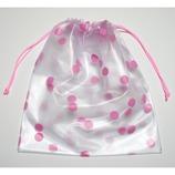 トラベリングパック 巾着 水玉ピンク
