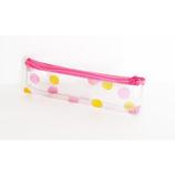 キャンディカラーポーチ S 水玉ピンク│オーラルケア・デンタルケア 携帯用歯ブラシ・ケース