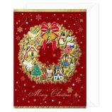 チキュウグリーティングス 洋風クリスマスカード S300-84│カード・ポストカード クリスマスカード