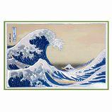 【クリスマス】チキュウグリーティングス 和風クリスマスカード C300−11 富士と波