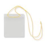 吊下タッグ名札 黄紐大 10入 C-235-10Y│名札・カードホルダー ネックストラップ・リールクリップ