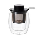 アデリア フィルター付き二層グラス HS-222│茶器・コーヒー用品