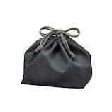 HAKOYA クレンゼ抗菌巾着袋 33703 グレー│お弁当箱 お弁当袋・ランチベルト