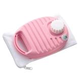 マルカ ポリ湯たんぽ 600ml 袋付 ピンク