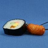 末武 食品サンプルストラップ 助六(太巻き&いなり)