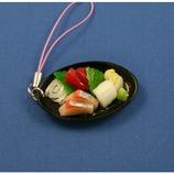 末武 食品サンプルストラップ 刺身4点盛り ハマチ