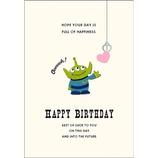 アートプリントジャパン ディズニーウッドパーツバースデーカード トイ・ストーリー リトルグリーンメン2│カード・ポストカード バースデー・誕生日カード