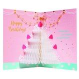 アートプリントジャパン ハニカムケーキ バースデーカード ホワイトケーキ 97492│カード・ポストカード バースデー・誕生日カード