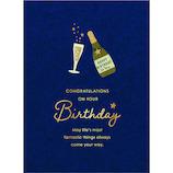 アートプリントジャパン ウッドパーツバースデーカード シャンパン│カード・ポストカード バースデー・誕生日カード