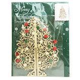 【クリスマス】APJ ウッドツリー クリスマスカード 1000102186 ナチュラルウッド