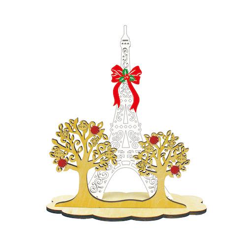【クリスマス】APJ ウッドスタンド クリスマスカード 1000102187 エッフェル塔