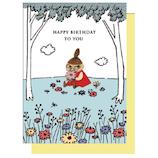アートプリントジャパン ムーミン ウッドパーツ バースデーカード 1000108204 リトルミイ│カード・ポストカード バースデー・誕生日カード